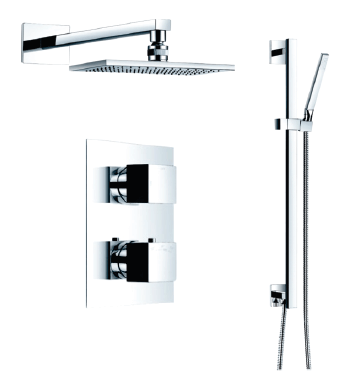 Love Your Mornings With Our Rain Shower Rectangle System